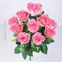 Buquê C/10 Rosas Cores Diversas 43 Cm - Flores Artificiais