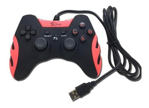 Controle Joystick Feir Fr-218a Vermelho