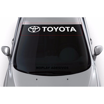 Adesivo Faixa Parabrisa Carro Decorativo Esportivo Toyota