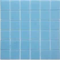 Pastilha De Vidro Azul Porcelana; Ideal Para Piscinas, Sauna