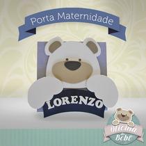 Ursinho Porta Maternidade Nome Quadro Bebê Menino Menina