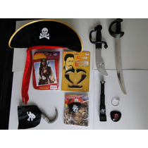 Kit Fantasia Jack Sparrow Peruca Luneta Piratas Do Caribe