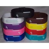 Relógio Led Digital Sport Nike Pulseira Silicone.de2baterias