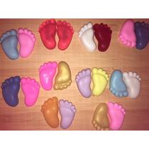 60 Mini Pezinhos Sabonete Lembrancinha Chá Bebê Maternidade