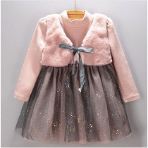 Vestido Infantil Festa Princesa, Aniversário, Tule. P.entreg