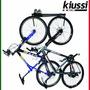 Suporte Parede P/ Duas Bicicletas Branco Wall Rack