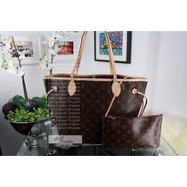 Bolsa Louis Vuitton Neverfull M M Monogram - Original!