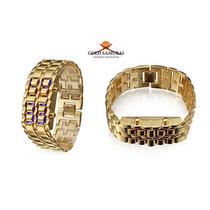 Relógio Led Gold Samurai - Dourado - Frete Grátis