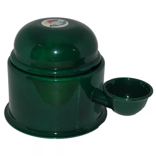 Bebedouro Vida Mansa Verde Metalico  700ml