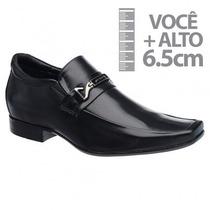 Sapato Com Salto Interno Jota Pe Preto Grow Fast