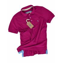 Camisa Polo, Sf Pink Escuro Original Qualid. De Importada