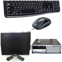Cpu Completa Hp Dc7600 P4 2gb Hd 40gb + Monitor Dell 15
