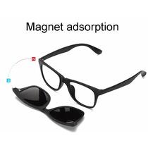 2c522b3ba Armação Óculos Grau 6 Em 1 + Clip On Polarizado Modelo 2201 à venda ...