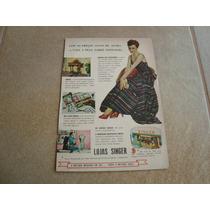 Propaganda Antiga Maquinas De Costura Singer 1953 Elgin