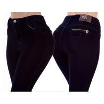 Calça Jeans Cintura Cós Alto Hot Pants Strech Elastano Lycra