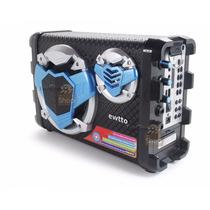 Caixa De Som Ativa Bluetooth Bateria Aux P2 P10 Karaoke Fm