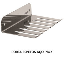 Porta Espetos Em Aço Inox - Espetos/acessórios Churrasco