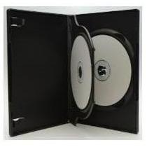 10 Capa Caixa Box Dvd Tripla Preta / Transparente C/ Bandeja