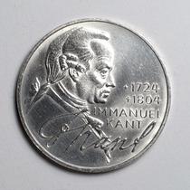 Moeda Prata Alemanha Comemorativa De 5 Marcos Ano De 1974