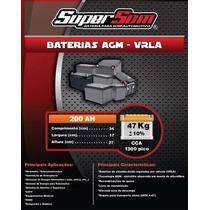 Baterias De Gel Super Som 200 Ah,sd Taramps,stetsom Jfa