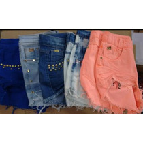 Shorts Jeans Femenino De Alta Qualidade Barato Kit,c5 199,90