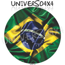 Capa Estepe Jimny, Suzuki Pneu205x70x15, Bandeira Brasil, 12