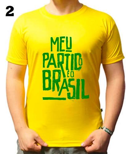 7e704ba68 3 Camisa Meu Partido É O Brasil - Frete Gratís Sem Juros