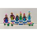 Frozen Fever Elsa Anna 6 Bonecas Lego Compatível