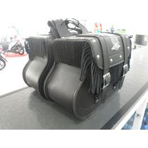 Alforge Lateral Universal Com Franja Para Moto Custom Courin