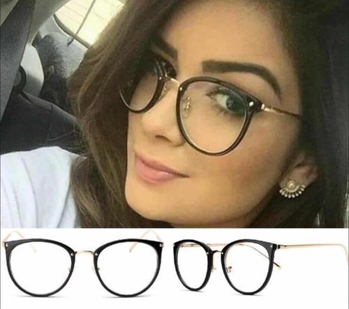 c228987cc9d31 Armação Óculos P grau Femenino Retro Metal Geek Novinho