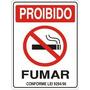 Placa Indicativa Sinalização Proibido Fumar 20x30 Cm