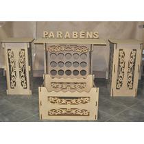 Kit Provençal Floral Mdf - Mesa/cubo/caixa Presente/brinde