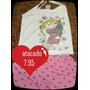 Pijamas Babydool Alcinha E Regata Infantil Grade Aberta R89