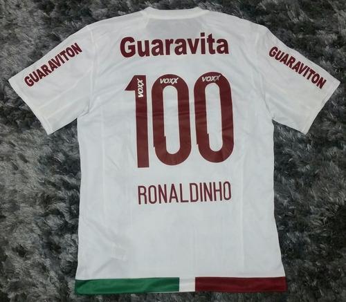 Camisa adidas Fluminense Ii 2016  100 Ronaldinho De Jogo f2f5a3ea76e83