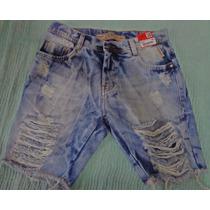 Bermuda Jeans Degrant Masculina Rasgada Hollister Sawary Top