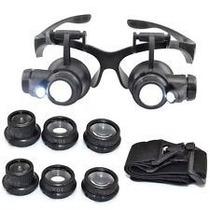 Lupa Oculos Cabeça Profissional Jogo 4 Lentes 10 15 20 25x B
