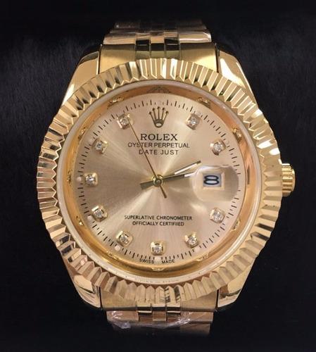 514536c8a19 Relógio Rolex Presidente Dourado Prata Preto Pronta Entrega - R  189 ...