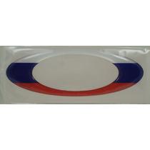 Adesivos Oakley Russia Resinados Bandeira Paises 12x4cm