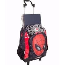 Mochila Rodinha G Homem Aranha - Spider Man 16z Sestini