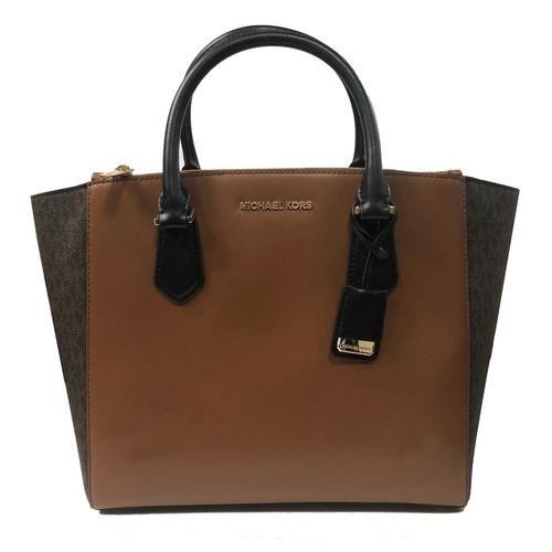 Bolsa Michael Kors Carolyn Large Tote Leather Brown d454ad61cf