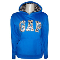 Blusa Gap Moletom Feminina Azul Royal Oncinha
