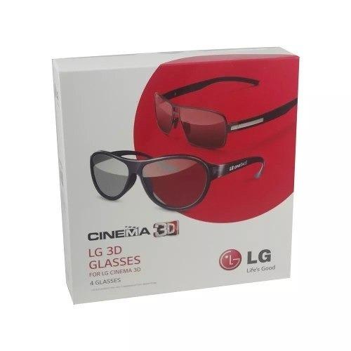 64acfe9099464 4 Óculos 3d Passivo Tv Lg Ag-f350 ag-f310 - Produto Original