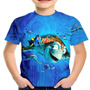 Camiseta Infantil Filme Procurando Nemo Animação Md01