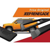 Friso Lateral Jeep Renegade Original - Preto 4 Peças