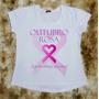 Camiseta Feminina Rosa Outubro Coração Linda Frete Grátis