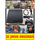 Ps3 Slim Super Slim Gta 5 Pes Fifa 18  40 Jogos