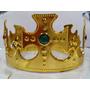 Coroa Rei Rainha Dourada Ajustavel Cosplay Festa Fantasia