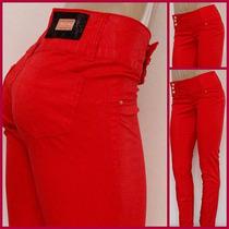 Calça Jeans Sarja Skinny Feminina Com Elastano