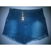Saia Bico Destroyed Desfiada Shorts Jeans Shorts Saia