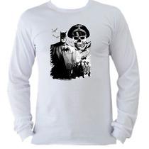 Camiseta Adulto Manga L. Batman Bat Man Coringa Joker H